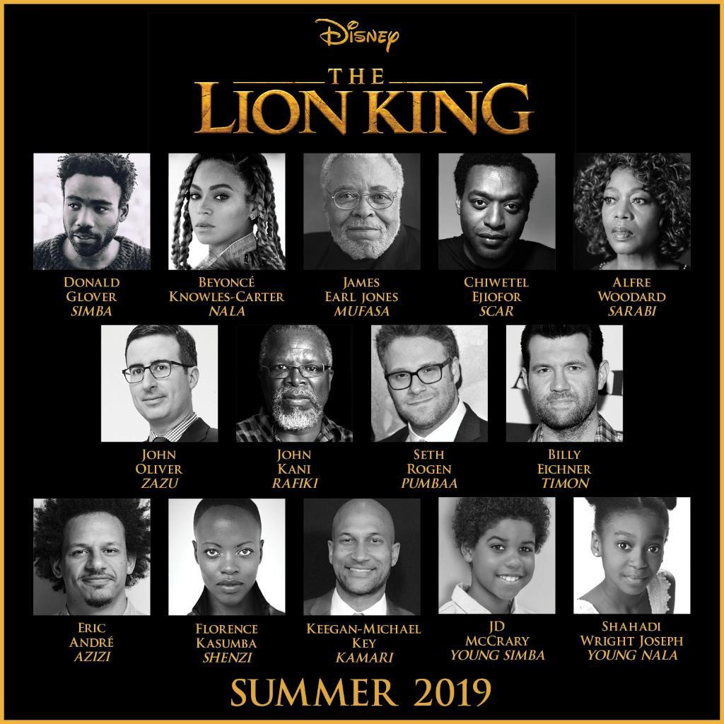 The Lion King 2019 Cas