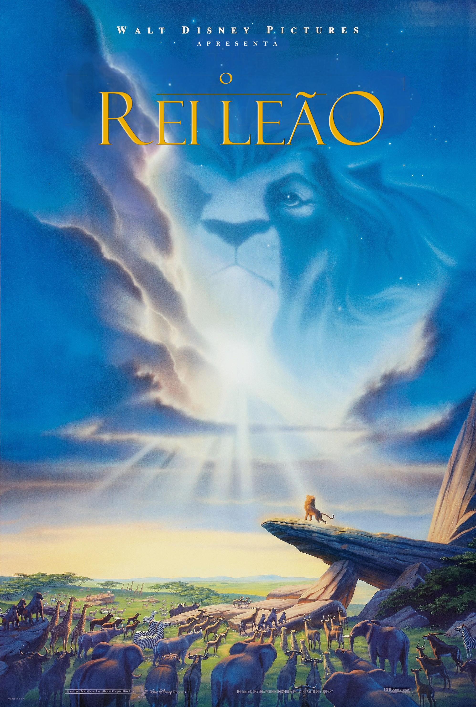 O Rei Leão - Poster 1994 em Português (PT-BR) original